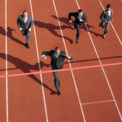 Executives racing on track